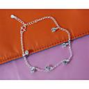 baratos Tornezeleira-Tornezeleira - Prata Chapeada, Imitações de Diamante Fashion Prata Para Casamento / Festa / Diário / Mulheres