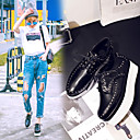 お買い得  レディースオックスフォードシューズ-女性用 靴 PUレザー 春 コンフォートシューズ オックスフォードシューズ クリーパーズ ポインテッドトゥ ブラック