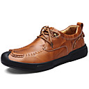 cheap Bracelets-Men's Shoes Nappa Leather Fall Winter Comfort Oxfords for Casual Party & Evening Black Light Brown
