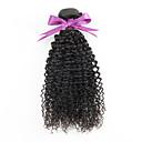 baratos Extensões de Cabelo Natural-Cabelo Mongol Kinky Curly Cabelo Virgem Cabelo Humano Ondulado Tramas de cabelo humano Extensões de cabelo humano / Crespo Cacheado