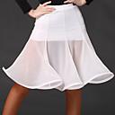 abordables Carteras-Baile Latino Pantalones y Faldas Mujer Entrenamiento Rayón / Tul Fruncido Manga Larga Cintura Alta Falda