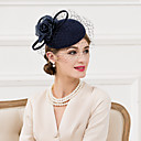 cheap Party Headpieces-Women's Wool / Silk / Net Headpiece-Wedding / Special Occasion / Casual Fascinators / Hats 1 Piece