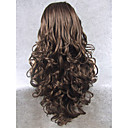 cheap Synthetic Lace Wigs-Synthetic Wig Wavy Synthetic Hair Natural Hairline Brown Wig Women's Long Lace Front Wig