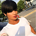 cheap Unprocessed Hair-100 natural black short hair wigs heat resistant wig for women hair short cut wigs hot sale
