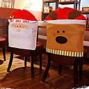abordables Decoraciones Navideñas-alces conjuntos silla de adornos de Navidad 50 * 60cm
