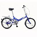 abordables Bicicletas-Bicicletas plegables Ciclismo 1 velocidad 20 pulgadas Freno en V Ordinario Doblez Ordinario Acero