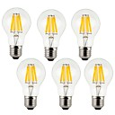cheap LED Corn Lights-KWB 6pcs 7W 760lm E26 / E27 LED Filament Bulbs A60(A19) 8 LED Beads COB Decorative Warm White Cold White 220-240V