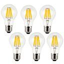 tanie LED Grow Lights-KWB 6 szt. 7 W 760 lm E26 / E27 Żarówka dekoracyjna LED A60(A19) 8 Koraliki LED COB Dekoracyjna Ciepła biel / Zimna biel 220-240 V / RoHs
