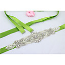 cheap Party Sashes-Satin Wedding / Party / Evening / Dailywear Sash With Rhinestone / Beading / Imitation Pearl Women's Sashes