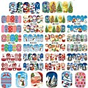cheap Foil Nail Paper-new set 48 designs sets christmas xmas full wraps beauty water transfer sticker nail art decorations tips diy stamp a1129 1176