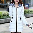 cheap Softshell, Fleece & Hiking Jackets-Women's Daily Solid Colored Regular Down, Polyester Long Sleeve Fall / Winter Hooded Blue / Pink / Light Blue XL / XXL / XXXL