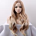 お買い得  人工毛キャップレスウィッグ-人工毛ウィッグ ルーズウェーブ 合成 ブロンド かつら 女性用 ロング / 非常に長いです キャップレス