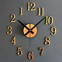 זול שעונים מעוררים-מודרני עכשווי רטרו אקרילי זכוכית מתכת עגול בבית / בטבע