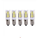 cheap LED Corn Lights-5pcs 5W 2700-3000/6000-6500lm E14 LED Corn Lights T 51 LED Beads SMD 2835 Warm White Cold White 220V