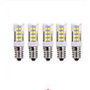 baratos Lâmpadas Filamento de LED-5pçs 5W 2700-3000/6000-6500lm E14 Lâmpadas Espiga T 51 Contas LED SMD 2835 Branco Quente Branco Frio 220V
