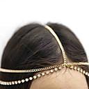 cheap Party Headpieces-Women's Vintage Cute Party Brass Rhinestone Head Chain