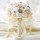 povoljno Cvijeće za vjenčanje-Cvijeće za vjenčanje Buketi Vjenčanje Zabava / večer Taft Spandex Perle Čipka Umjetno drago kamenje Poliester Saten Pjena 11.02