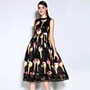 זול שיש מסלולים-מידי דפוס, צבעוני - שמלה נדן כותנה וינטאג' בגדי ריקוד נשים