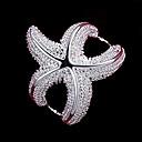 preiswerte Modische Halsketten-Damen Statement-Ring - Sterling Silber Seestern Modisch 6 / 7 / 8 Silber Für Hochzeit / Party / Alltag
