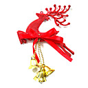 baratos Acessórios de Festa-Decorações Natalinas Artigos para Celebrar o Natal Decorações de Árvore de Natal Elk Plástico Brinquedos Dom 3 pcs