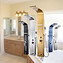 preiswerte Wandleuchten-Duscharmaturen - Moderne Chrom Duschtafel Keramisches Ventil / Edelstahl / Einzigen Handgriff Zwei Löcher