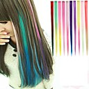 cheap Full Nail Stickers-Synthetic Hair Hair Extension Straight Classic Clip In Daily High Quality