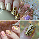billige Hollow Nail Stickers-1 pcs 3D Negle Stickers Negle kunst Manicure Pedicure Mode Daglig / 3D Nail Stickers