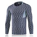 billige T-skjorter-Herre T-skjorte til turbruk Utendørs Vinter Fort Tørring Anvendelig Pustende Bekvem Svettereduserende Lettvekt Kompressjonsklær Topper