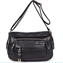 cheap Shoulder Bags-Women's Bags Cowhide Crossbody Bag Zipper Black / Brown / Royal Blue