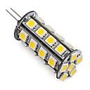 billige Mode Halskæde-260lm G4 LED-lamper med G-sokkel Tube 30 LED Perler SMD 5050 Dæmpbar Dekorativ Varm hvid Kold hvid 12V