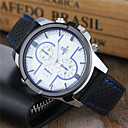 cheap Men's Watches-Men's Sport Watch / Keychain Watch / Wrist Watch Casual Watch / Cool Silicone Band Casual / Dress Watch Black / White / Blue