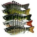 preiswerte Angelköder & Fliegen-1 pcs Harte Fischköder Angelköder Harte Fischköder Fester Kunststoff 3D Schwimmend Seefischerei Fischen im Süßwasser