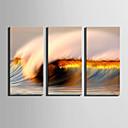 お買い得  プリント-風景 近代の, 3枚 キャンバス 縦式 プリント 壁の装飾 ホームデコレーション