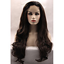 cheap Synthetic Lace Wigs-Synthetic Lace Front Wig Wavy Synthetic Hair Natural Hairline / Glueless Black / Brown Wig Women's Long Lace Front Dark Brown Brown Natural Black