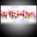 cheap POP Oil Paintings-Oil Painting Hand Painted - Floral / Botanical Pastoral / Modern Canvas / Rolled Canvas