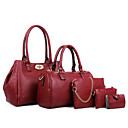 cheap Bag Sets-Women's Bags Cowhide Bag Set 5 Pieces Purse Set Fuchsia / Blue / Wine / Bag Sets