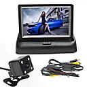 billige Bilryggekamera-renepai® 4,3 tommers sammenleggbar skjerm monitor + trådløs 170 ° hd bil ryggekamera + vidvinkel vanntett kamera