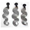 billige Hårvever med ekte hår-3 pakker Brasiliansk hår Krop Bølge / Klassisk Ekte hår Menneskehår Vevet Nyanse Hårvever med menneskehår Hairextensions med menneskehår
