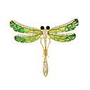 זול סיכות אופנתיות-בגדי ריקוד נשים תפס לשיער - אופנתי סִכָּה זהב / ירוק עבור קזו'אל