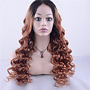 cheap Human Hair Wigs-grade 9a peruvian virgin hair lace front wig loose wave hair two tone ombre black blonde color human virgin hair for fashion woman