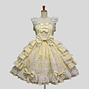 cheap Lolita Dresses-Sweet Lolita Dress Princess Women's Dress Cosplay White Black Purple Yellow Blue Cap Sleeveless Knee Length