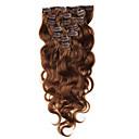 hesapli At Kuyrukları-Klipsli İnsan Saç Uzantıları Vücut Dalgası Virgin Saç Düz Brezilya Saçı Kadın's Günlük