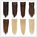 cheap Synthetic Wigs-Clip In Human Hair Extensions Human Hair Straight Women's Daily