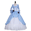 cheap Starter Tattoo Kits-Princess Gothic Lolita Dress Classic Lolita Dress Rococo Elegant Victorian Lace Women's Dress Cosplay Blue Ball Gown Floral Long Sleeve Long Length Plus Size Customized Costumes