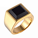 cheap Men's Rings-Men's Statement Ring / Ring - Titanium Steel Vintage, Fashion 8 / 9 / 10 Gold / Silver For Daily / Casual