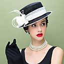 levne Ozdoby do vlasů na večírek-len / Peří Klobouk Kentucky Derby / Fascinátory s 1 Svatební / Zvláštní příležitosti / Ležérní Přílba