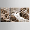 baratos Saco de Boxe & Manopla de Boxe-Abstrato Pessoas Clássico Estilo Europeu, 3 Painéis Tela de pintura Vertical Estampado Decoração de Parede Decoração para casa