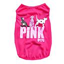 abordables Ropa para Perro-Perro Camiseta Chaleco Ropa para Perro Letra y Número Morado Rosa Verde Terileno Disfraz Para Verano Hombre Mujer Casual / Diario