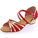 abordables Pelucas Sintéticas de Malla-Mujer Zapatos de Baile Latino Cuero / Satén Tacones Alto Purpurina / Hebilla Tacón Personalizado Personalizables Zapatos de baile Negro /