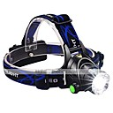 cheap Flashlights & Camping Lanterns-Headlamps LED 1600lm 3 Mode with Batteries and Charger Zoomable / Adjustable Focus / Impact Resistant Camping / Hiking / Caving /